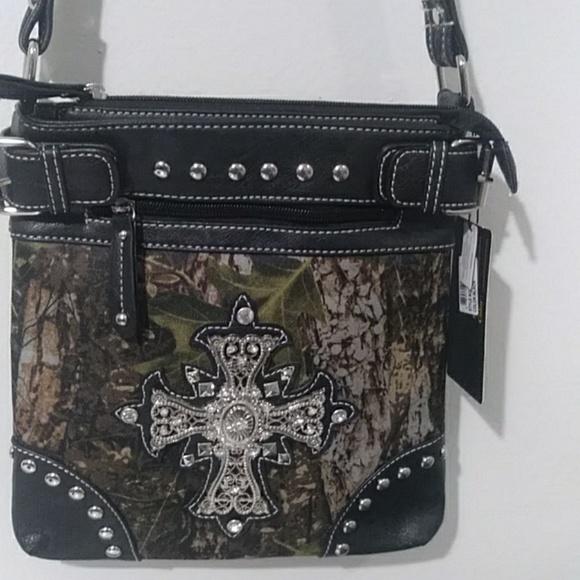 6f9b63bd1157 Rhinestone Silver Cross Handbag/Crossbody Strap NWT